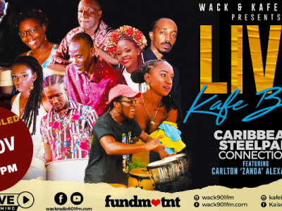 Rescheduled: Live from Kafé Blue with Caribbean Steelpan Connection ft Zanda