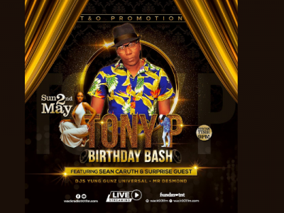 Tony P Birthday Bash ft Sean Caruth & Surprise Guest