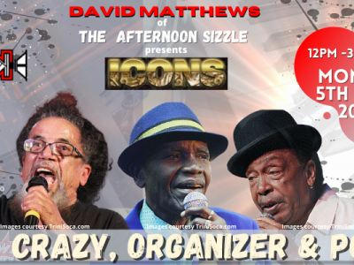 The Afternoon Sizzle presents ICONS - Crazy, Organiser & Poser