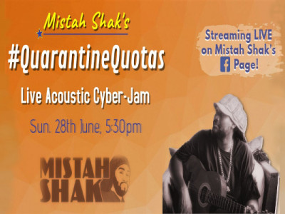 Mistah Shak's #QuarantineQuotas- Live Acoustic Cyber-Jam!