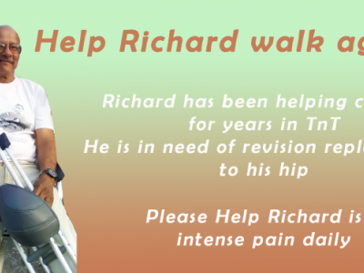 Help Richard live painfree and have him walk again
