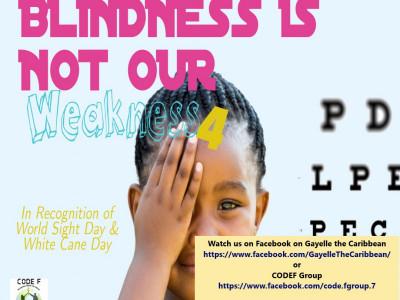 CODE-F Blind Awareness Week of Activities