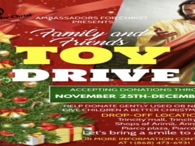 FAMILY AND FRIENDS TOY DRIVE-AMBASSADORS FOR CHRIST